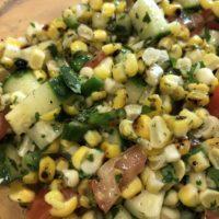 Cilantro Lime Grilled Corn Salad