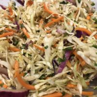 Close up of Coleslaw