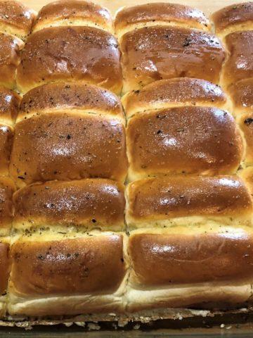 Twelve Butter Basted Slider Buns