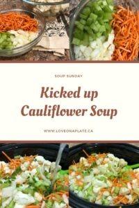 Chopped Carrots, Onion, Celery & Cauliflower in crockpot