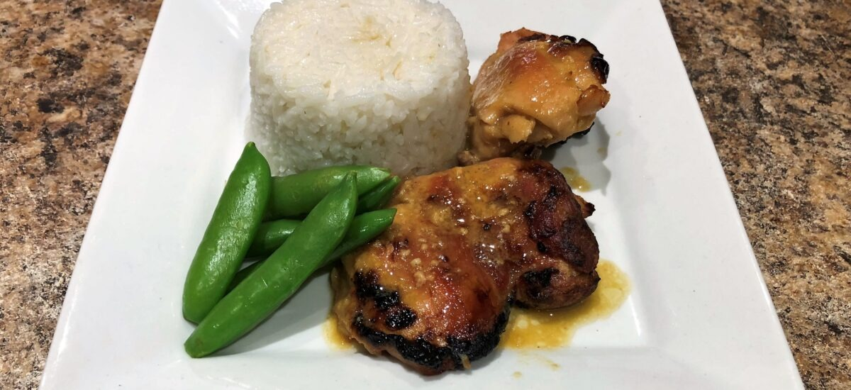 Maple Dijon Baked Chicken Thighs