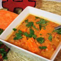 Thai Red Lentil Sweet Potato Soup