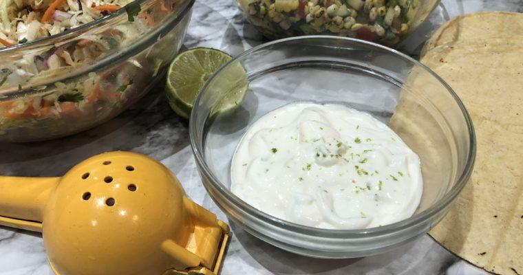 Garlic Lime Crema; Homemade from Scratch