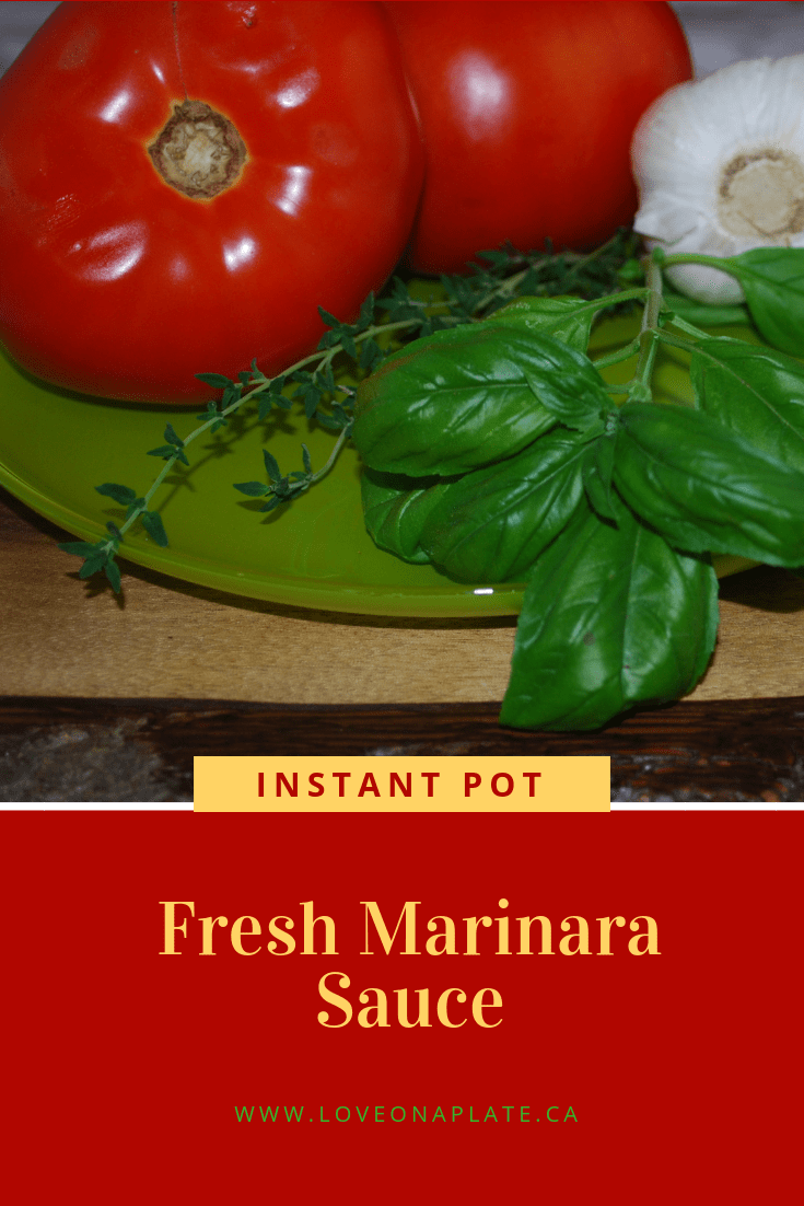 Instant Pot Fresh Marinara Sauce