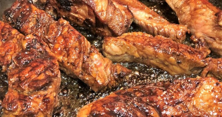 Sweet with Heat;  Korean Beef Short Ribs hit the spot!