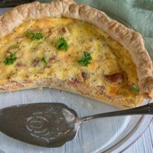Bacon & Cheese Quiche