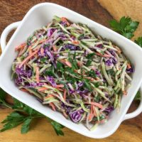 Keto Broccoli Slaw is a serving dish