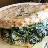 Cream Cheese and Spinach Stuffed Pork Chops