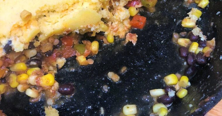 One Skillet Tamale Bake