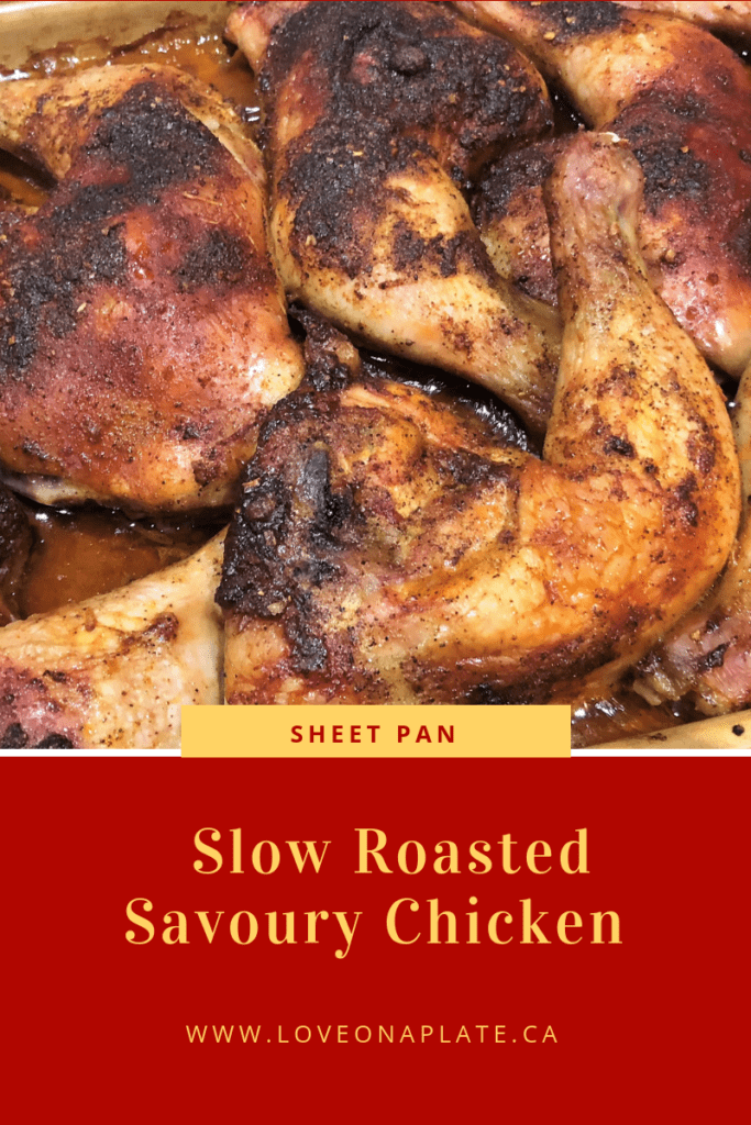 Slow Roasted Chicken on a sheet pan
