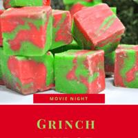 Green and Red White Chocolate fudge
