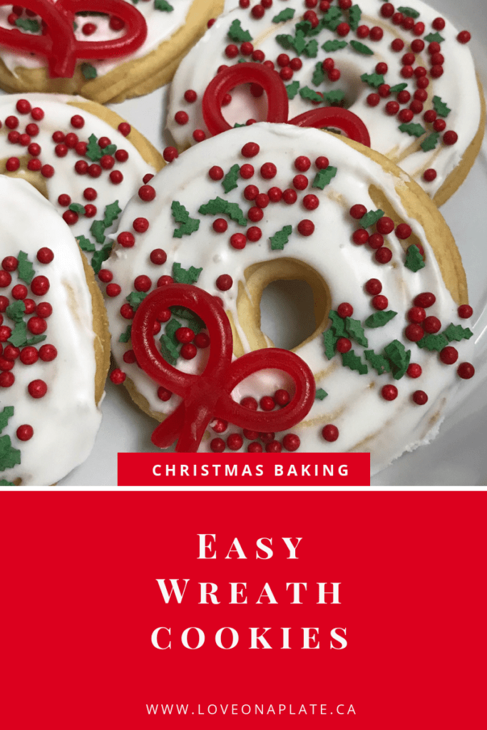 Easy Wreath Cookies 12 Days Of Cookies Love On A Plate