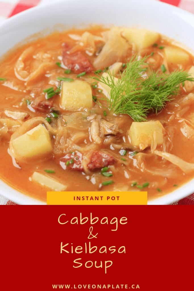 Cabbage and Kielbasa Soup Pinterest image