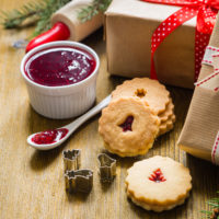 Cookies, Cookie Cutters, wrapped gifts