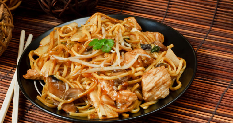 Instant Pot Honey Garlic Chicken Lo Mein; Skip the delivery