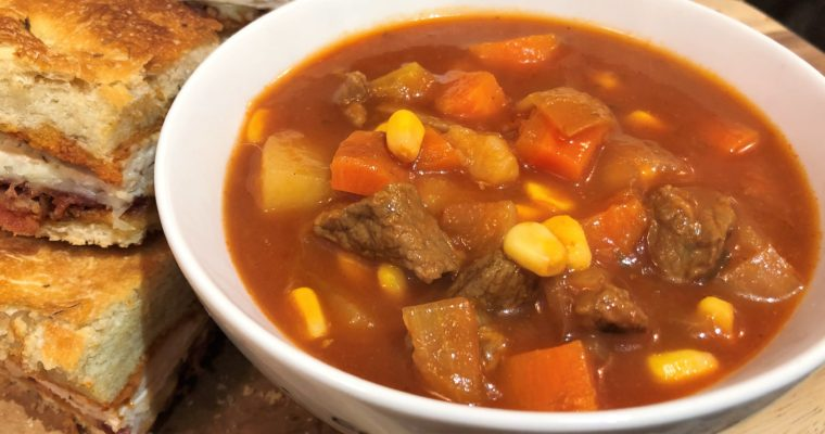 Instant Pot Vegetable Beef Soup