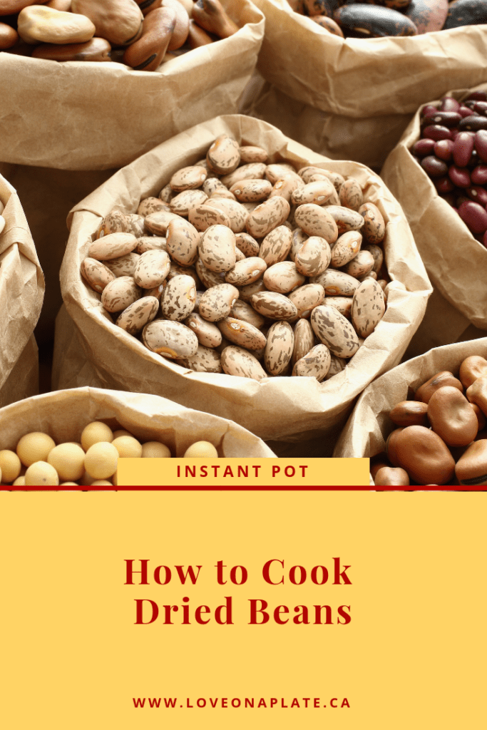 Dried Navy Beans, Pinto Beans, White Kidney beans in large brown bags