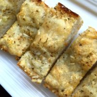 Cheesy Garlic Bread with melted Gruyere and Ciabata bread