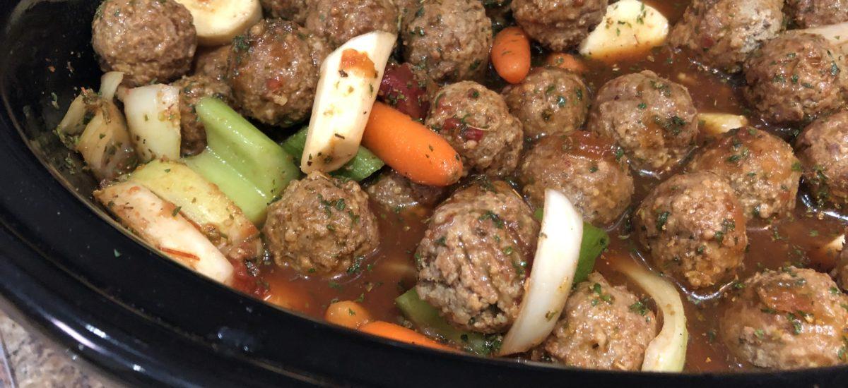 Meatball Stew; Slow Cooker