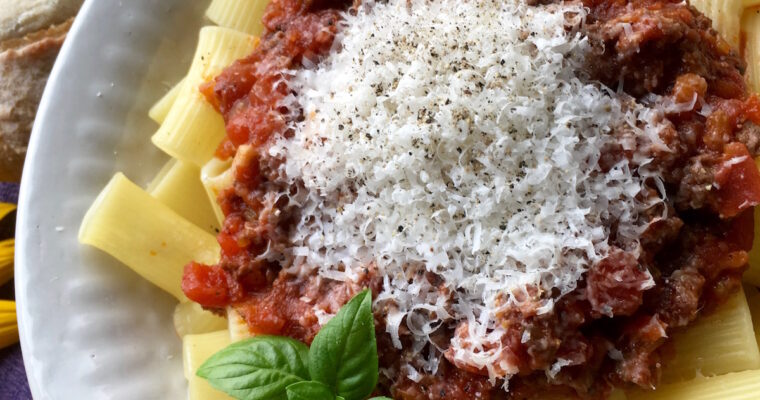 One Pot Triple Meat Sauce; for your Instant Pot or Stove Top
