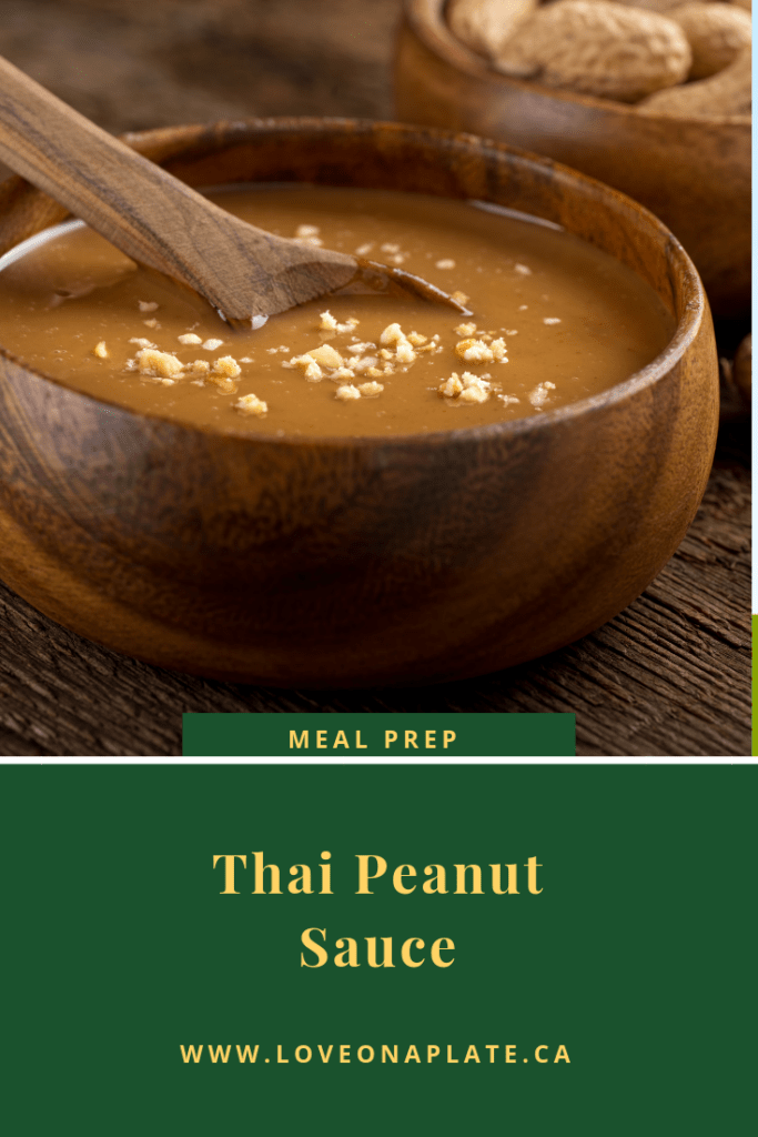 A bowl of delicious homemade thai peanut sauce.
