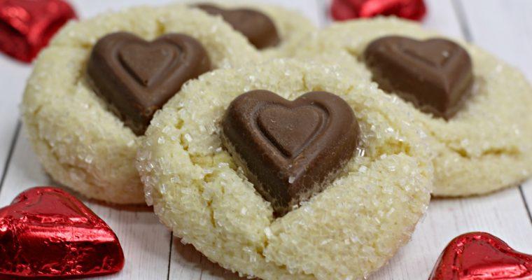 Valentines Day Crinkle Cookies