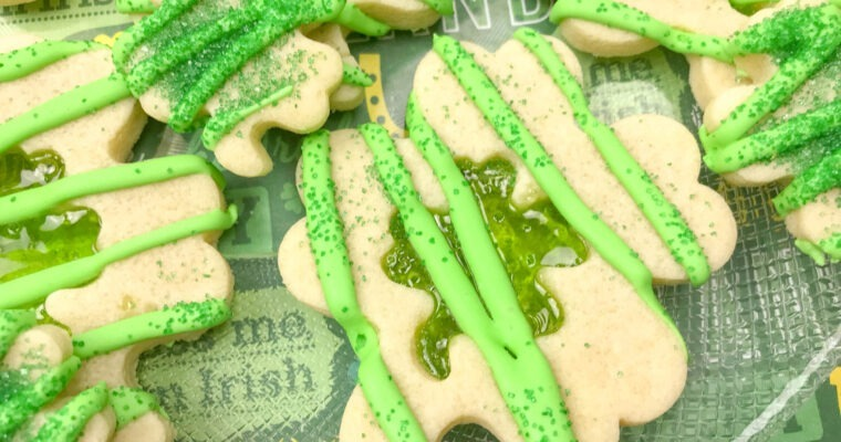 Shamrock Stained Glass Cookies