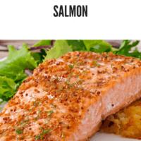 Salmon Fillet with grainy dijon mustard and maple glaze