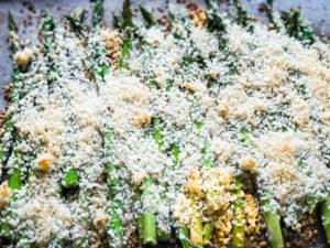 Panko Asparagus roasting.