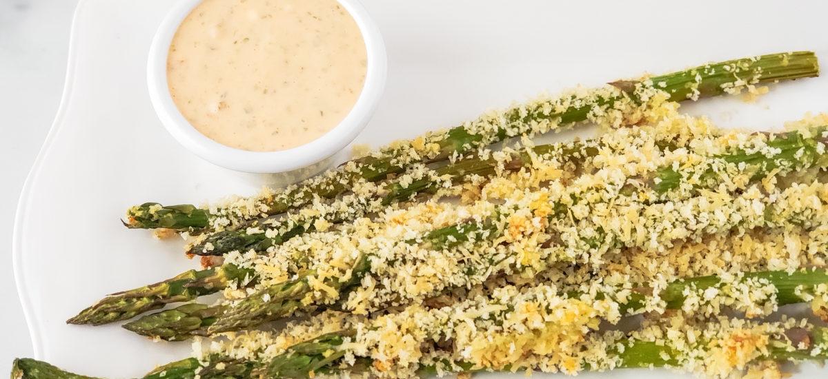 Panko Roasted Asparagus; Chipotle Aioli