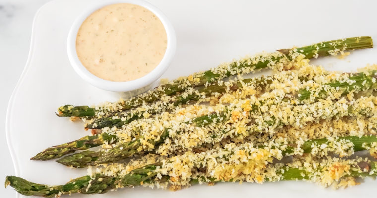 Panko Roasted Asparagus; Chipotle Aioli
