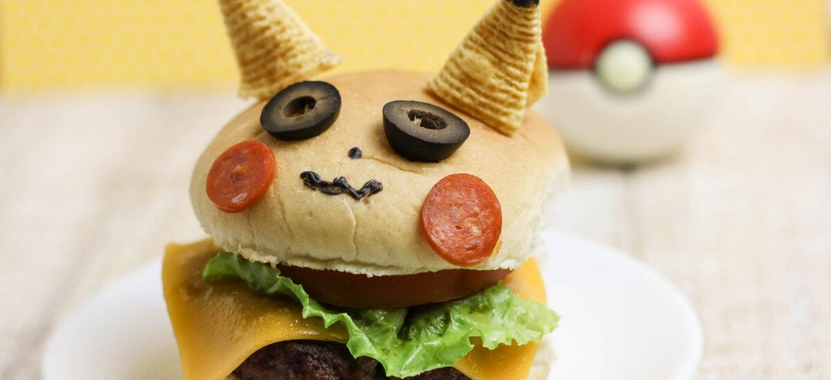 Pikachu Pokemon Burger