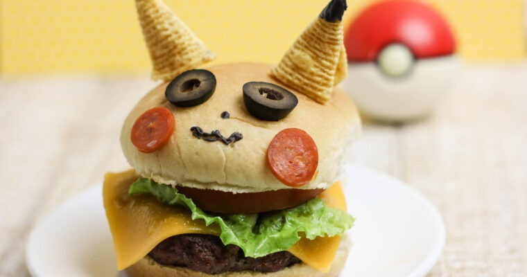 Pikachu Pokemon Burger
