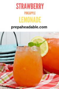 Pureed Strawberry & Pineapple blended with fresh lemonade