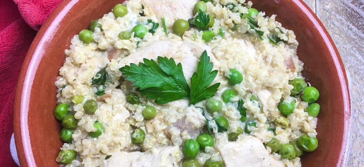 One Skillet Creamy Chicken Quinoa