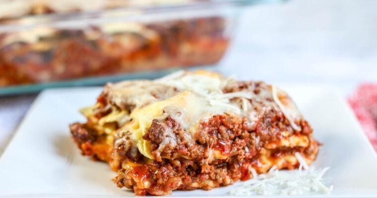 Easy Ravioli Casserole; Meal Prep