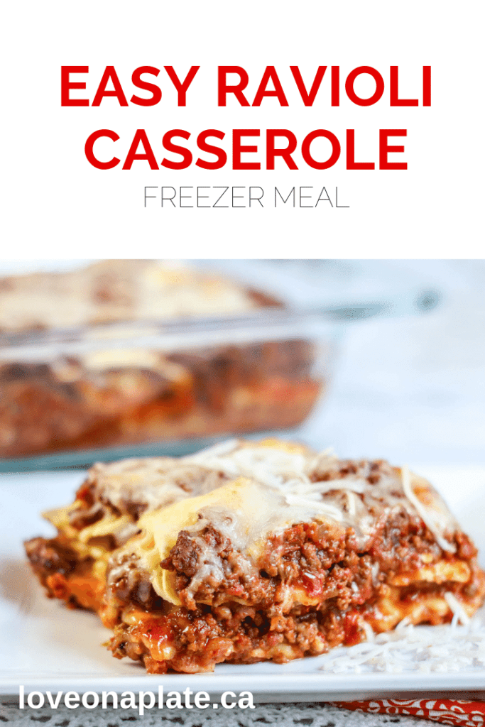 Freezer Friendly Easy Ravioli Casserole baked