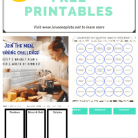 All the free meal planning printables you need