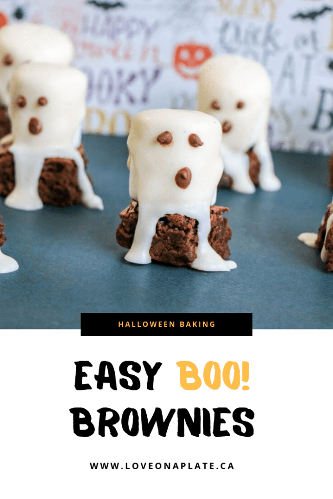 Easy half homemade Halloween treat using Brownie mix and Marshmallows