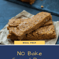 No bake cereal bars with assorted nut butter options