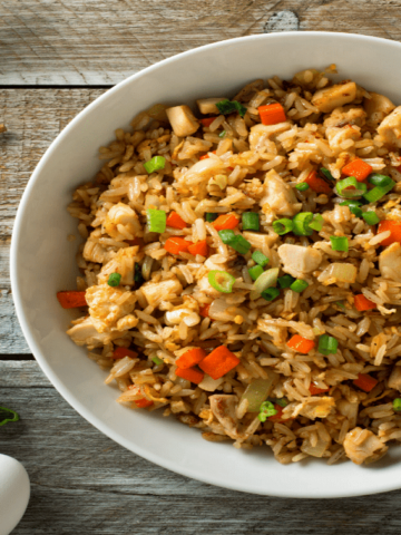 Hoison fried rice with vegetables