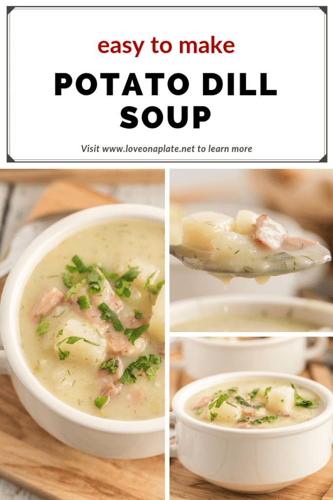 Potato Dill Soup uses leftover ham, tender potatoes and fresh dill
