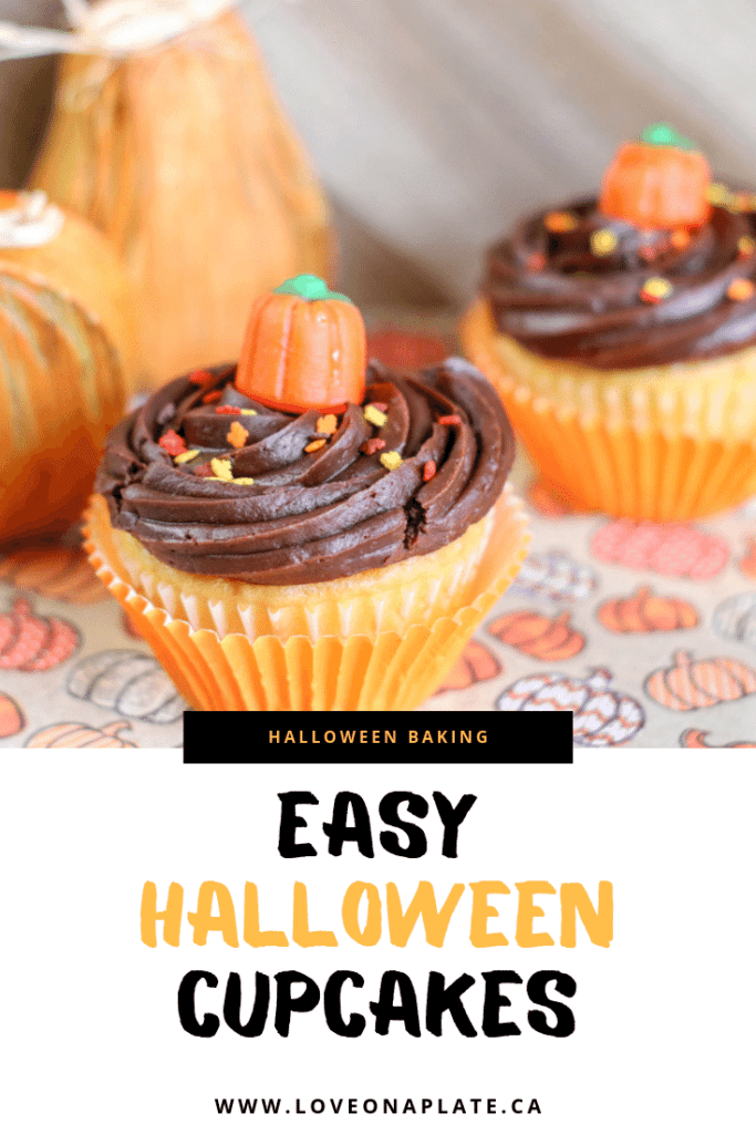 Adorable Easy Halloween Cupcakes made with simple store bought ingredients