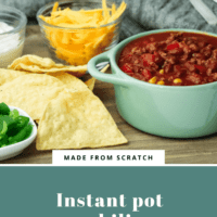 Savoury chili made in the Instant Pot