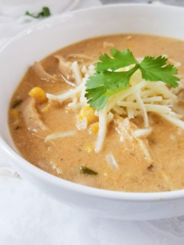 Tender Chicken, Chilis, Corn, in a creamy cumin infused broth.