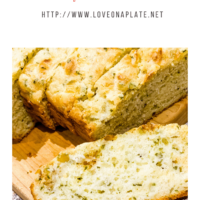 Buttermilk Cheddar quick bread baked without yeast.