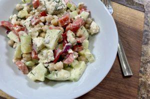 Chickpea  Cucumber Feta Salad